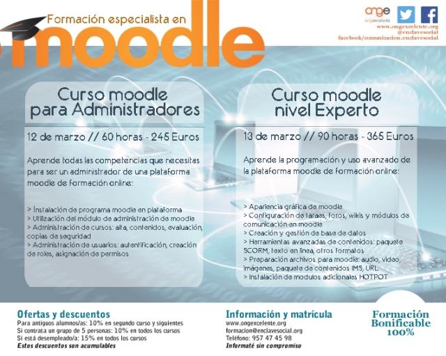 FORMACIÓN ADMINISTRADOR Y EXPERTO EN MOODLE MARZO2015