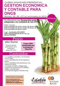 Curso de Experto en Gestión Económica y Contable para ONGs MADRID Noviembre2015