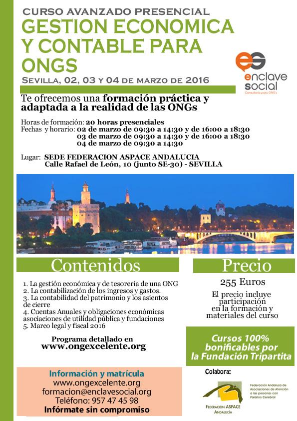 Curso de Experto en Gestión Económica y Contable para ONGs Sevilla Marzo2016