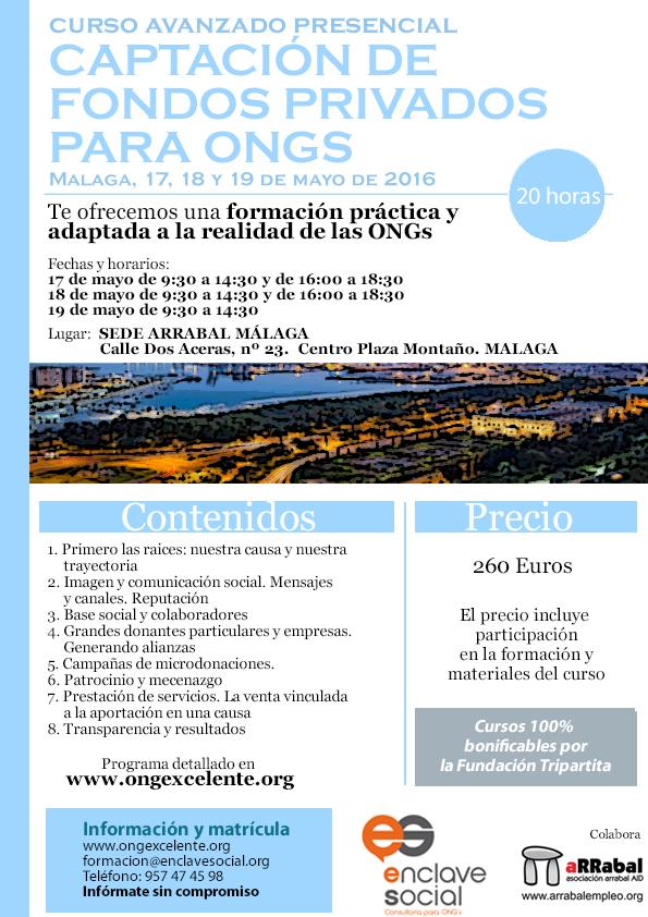 Curso de Captación de Fondos Privados para ONGs Malaga Mayo2016